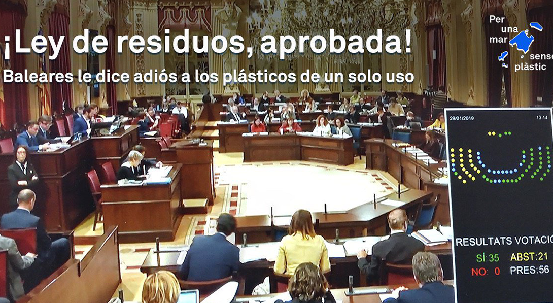 Ir a Baleares aprueba una ley ambiciosa de residuos con la reducción como protagonista
