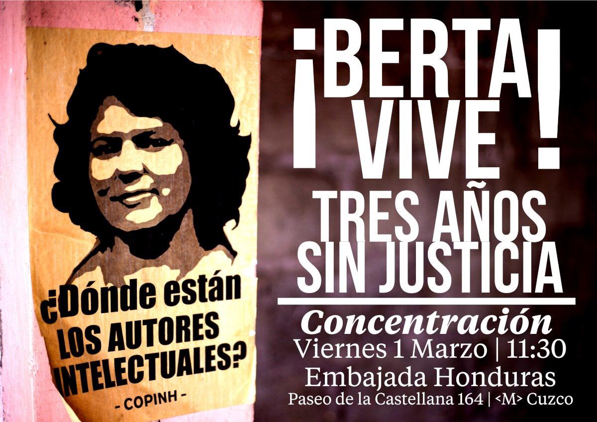 Ir a Madrid: ¡Justicia para Berta Cáceres!