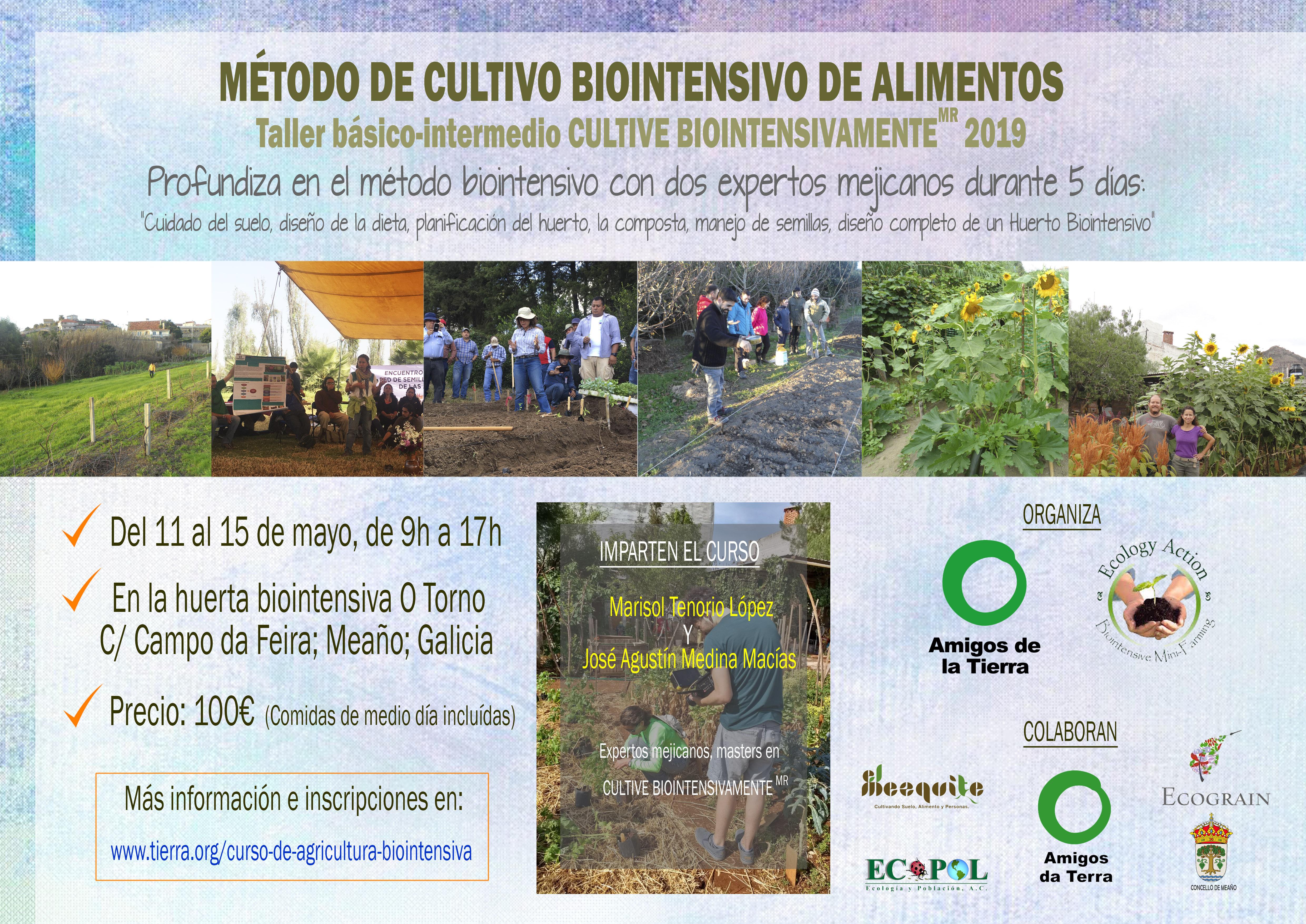 Ir a Método de cultivo biointensivo de alimentos. Taller básico- intermedio CULTIVE BIOINTENSIVAMENTE MR. (GROW BIOINTENSIVE SM.) Curso oficial de Ecology Action