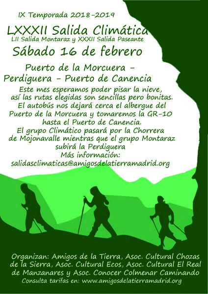 Ir a Madrid: La LXXXII Salida Climática