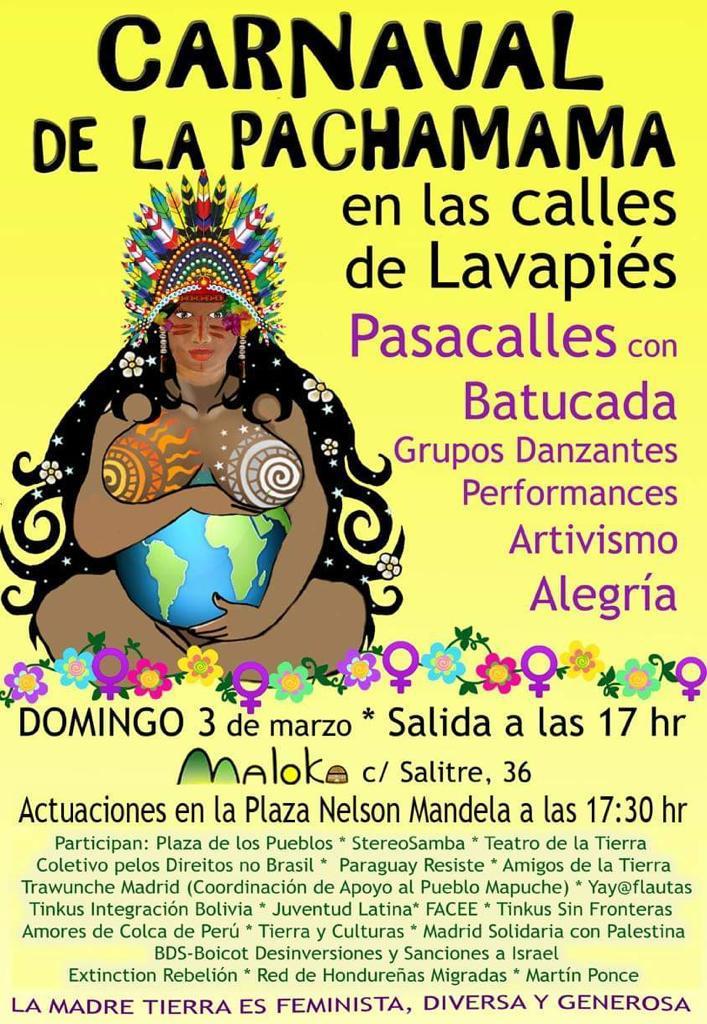 Madrid Carnaval Pachamama En Lavapiés Amigos De La Tierra