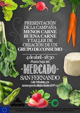 Ir a Madrid: Presentación de la campaña «Menos Carne, Buena Carne» (Lavapies)
