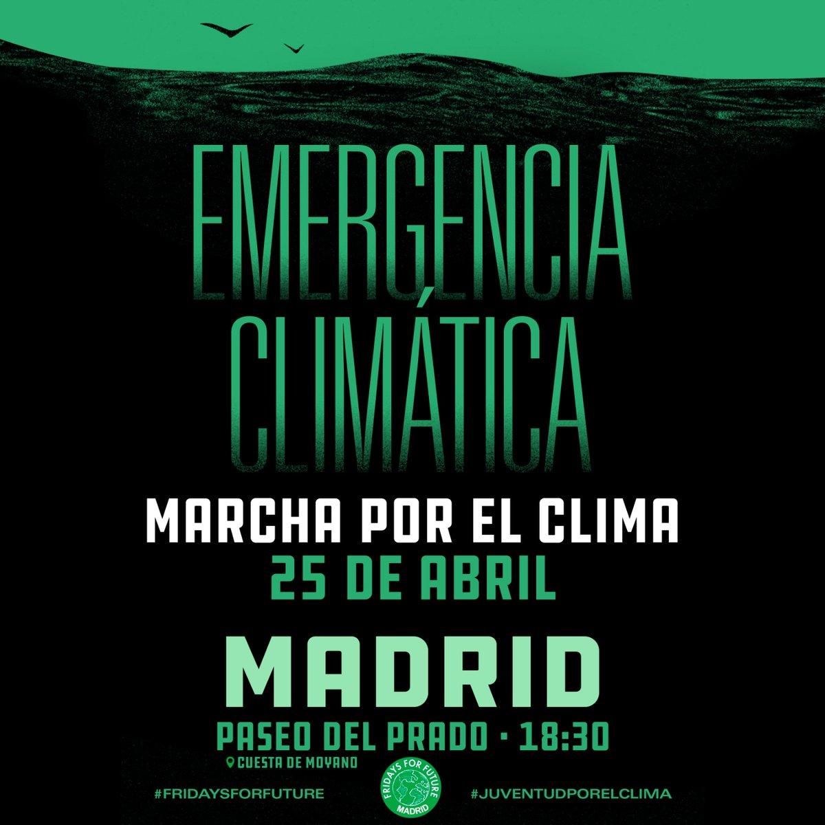 Ir a Madrid: Marcha por el Clima, 25 de abril