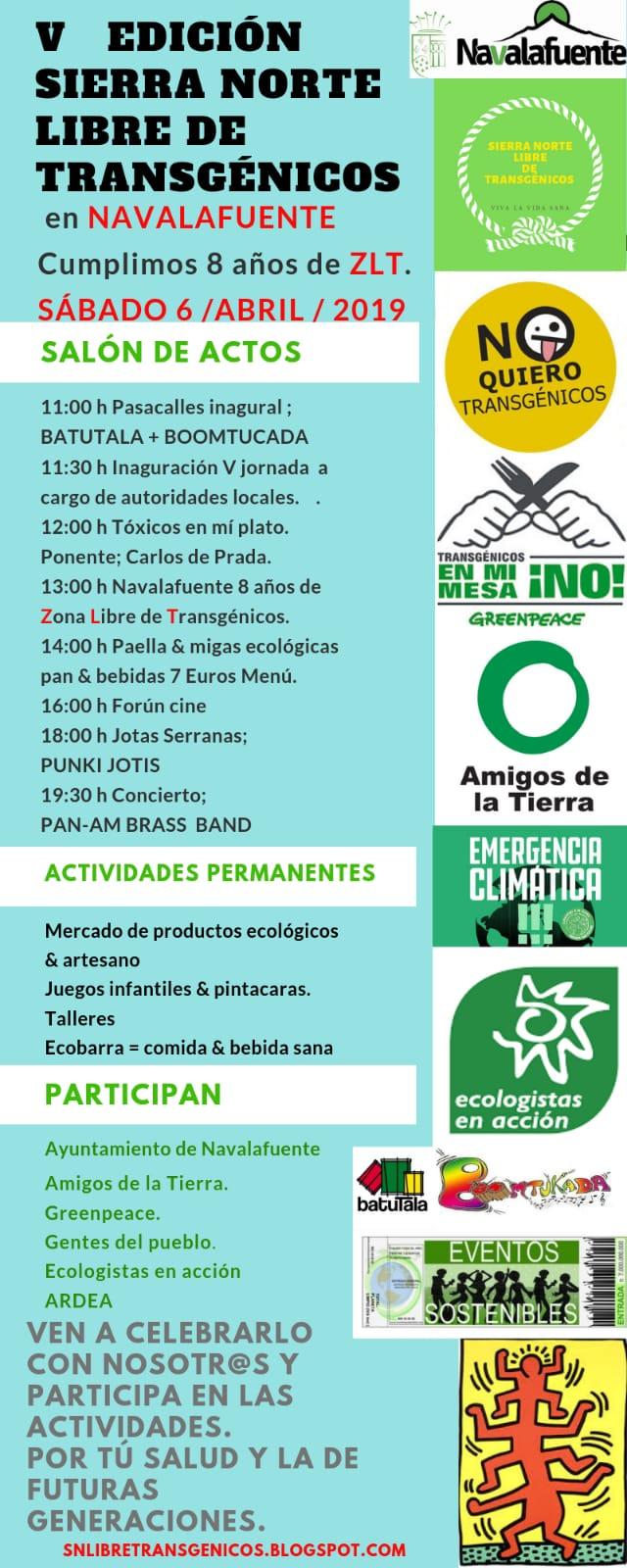 Ir a Madrid: V Fiesta de la Sierra Norte Libre de Transgénicos (Navalafuente)