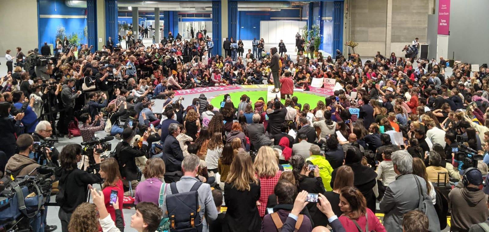 sentada de protesta COP25