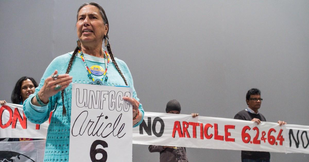 COP25 Indigenas contra los mercados de carbono