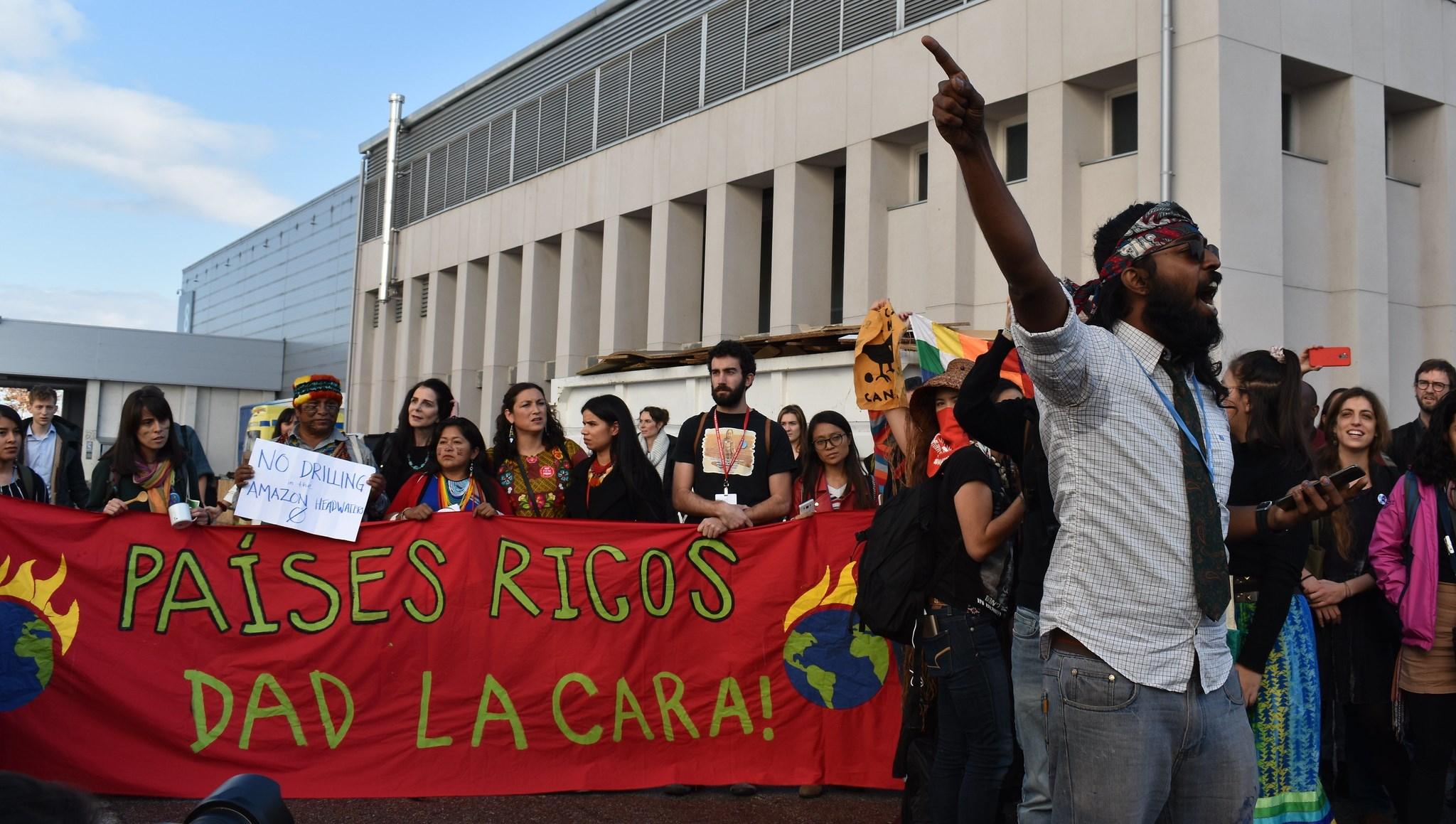 protestas en la cumbre del clima Madrid 2019 COP25