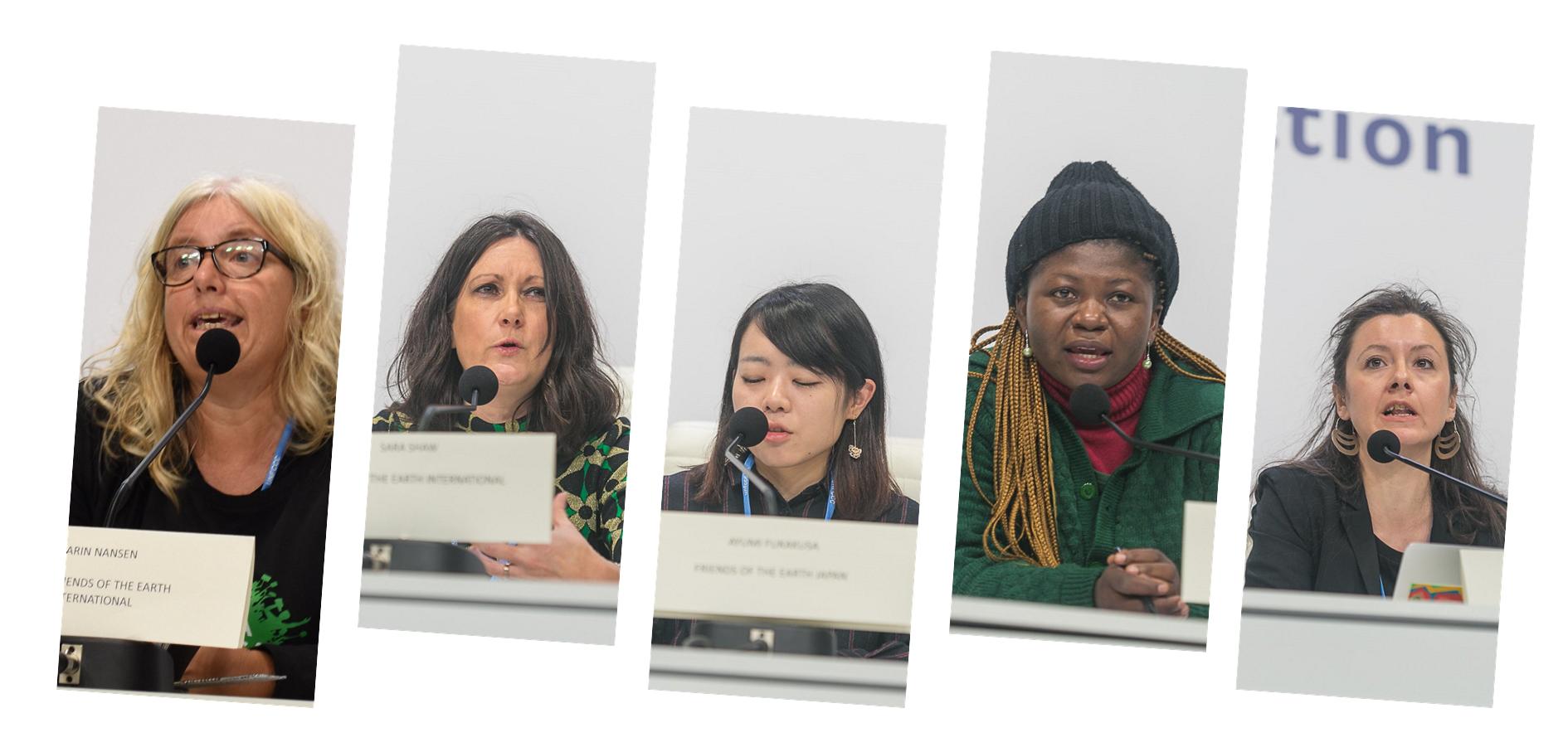mujeres activistas de Amigos de la Tierra Internacional