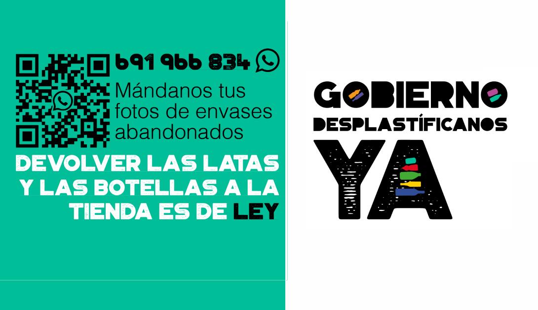 Ir a Amigos de la Tierra se une a la campaña «Gobierno Desplastifícanos YA»