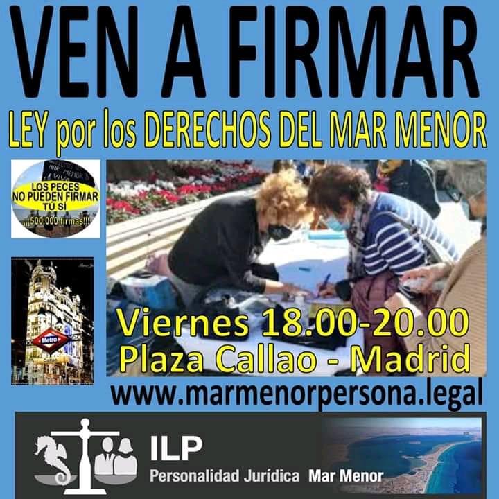 Ir a Madrid: Firmar para salvar el Mar Menor